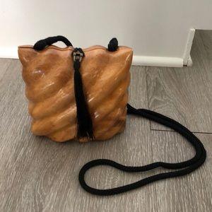 Timmy Woods wood handbag